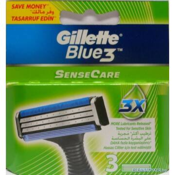 Gillette Blue3 SenseCare Penge (3 db)