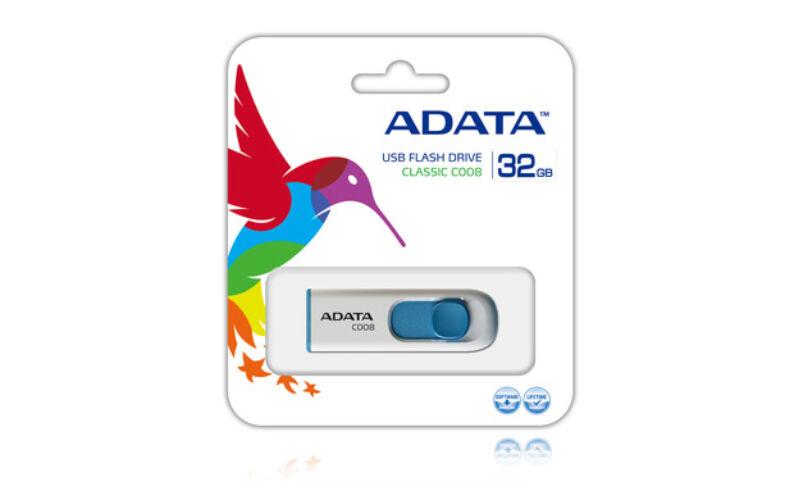 Adata C008 Classic 32GB Pendrive USB 2.0 - Fehér-Kék
