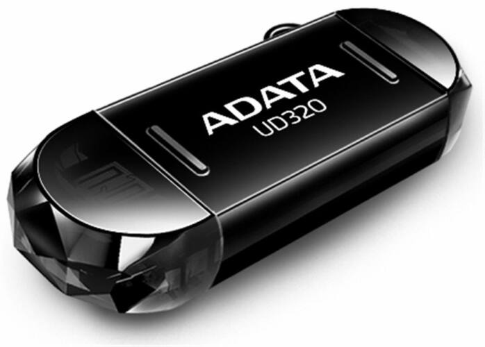 Adata UC320 32GB Pendrive USB 2.0 + Micro USB OTG - Android Telefonokhoz, Tabletekhez - Fekete