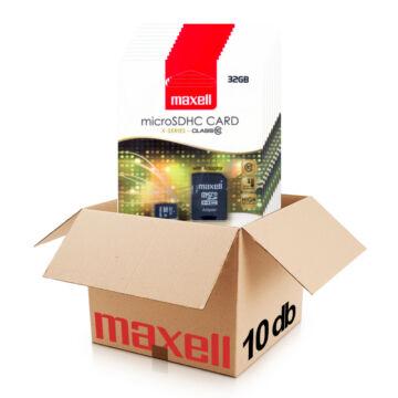 Maxell 32GB Micro SDHC Memóriakártya Class 10 + Adapter - 854718
