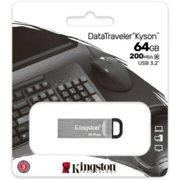 DTKN/64GB Kingston DataTraveler Kyson 64GB Pendrive [200 MB/s] USB3.2 Gen