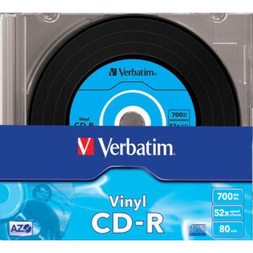 Verbatim CD-R Azo Data Vinyl 52X Lemez - Slim Tokban (10) - 43426