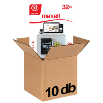Maxell 32GB Micro SDHC Yellow Memóriakártya Class 10 + Adapter 10db-os CSOMAG!