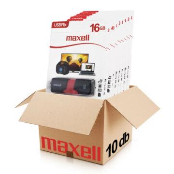 Maxell FLIX 16GB pendrive [USB 2.0] Fekete-Piros 10db-os CSOMAG!