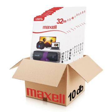 Maxell FLIX 32GB pendrive [USB 2.0] Fekete-Lila 10db-os CSOMAG!
