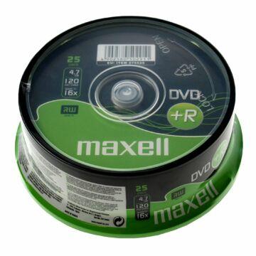 Maxell DVD+R 16X Teljes Felületén Nyomtatható Lemez, Cake (25) Repack - D1784
