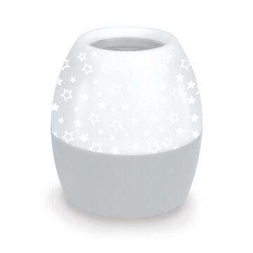 Omega LED Csillag Projektoros Éjszakai Lámpa - Szürke 45180