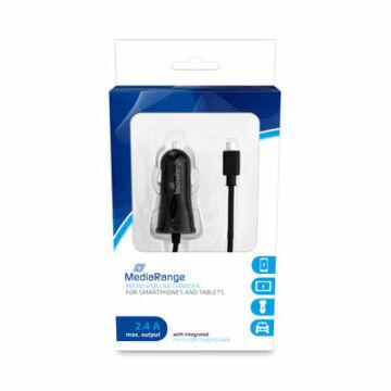 MediaRange Micro USB autós töltő 1A