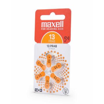 790419.00.EU Maxell PR48 (13) Hallókészülék elem Zinc Air 1.45V 6db/csomag