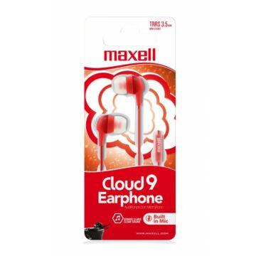 Maxell EB-Cloud9 Stereo Fülhallgató Mikrofonnal - piros