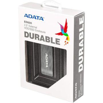 AED600-U31-CBK Adata Külső HDD/SSD ház USB 3.1 Fekete