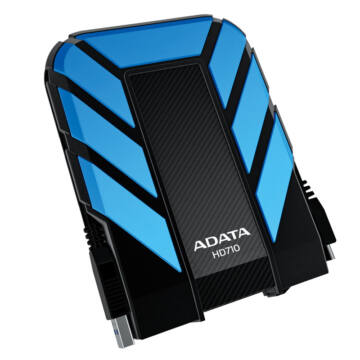 """Adata HD710 1TB HDD 2,5"""" IP68 Por, Víz És Ütésálló Külső Merevlemez, USB 3.0 Kék (AHD710-1TU3-CBL) - AHD710-1TU3-CBL"""