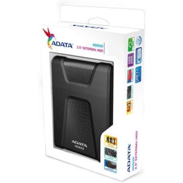 ADATA HD650 Külső HDD 1TB USB 3.0 Fekete