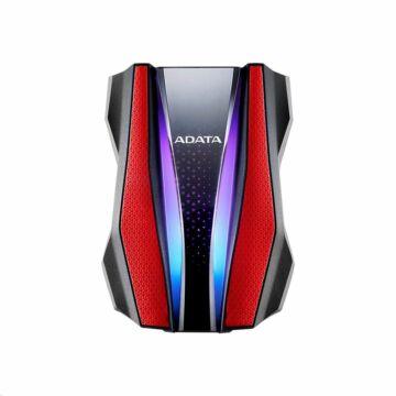 "AHD770G-1TU32G1-CRD Adata HD770G 1TB HDD 2,5"" Külső Merevlemez [USB 3.2 Gen 1] RGB Piros"