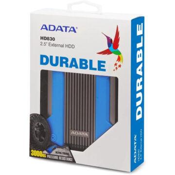 """Adata HD830 2TB HDD 2,5"""" IP68 Külső Merevlemez [USB 3.2 Gen1] Kék AHD830-2TU31-CBL"""