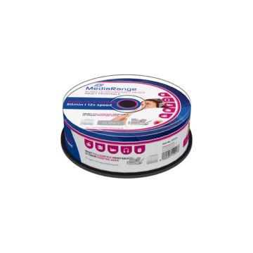 Mediarange CD-R 52X Nyomtatható Felületű Audio Lemez - Cake (25) - MR224