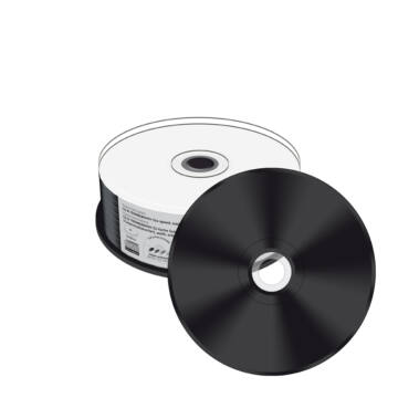 Mediarange CD-R 52X Nyomtatható Lemez, Fekete Írható Felülettel - Cake (25) - MR241