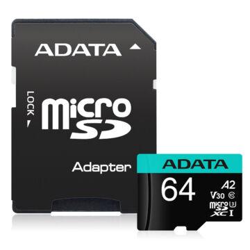 Adata Premier Pro 64GB Micro SDXC [100/80MBps] Adapter