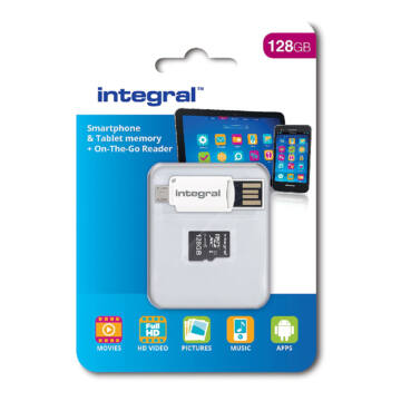 INMSDX128G10-SPTOTGR Integral 128GB Ultima Pro X microSDXC CL10 memóriakártya + OTG adapter
