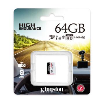SDCE/64GB Kingston 64GB Endurance (A1) CL10 microSDHC (95R/45W)