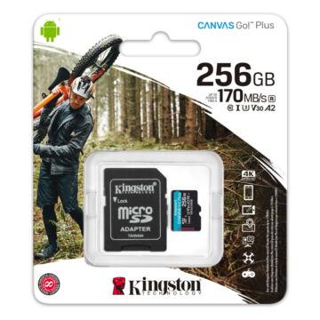 SDCG3/256GB Kingston 256GB Canvas Go! Plus (A2) U3V30 UHD microSD (170MB/s) + Adapter