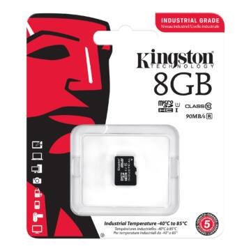 Kingston 8GB Micro SDHC Memóriakártya UHS-I Industrial Temp (90.45 Mb.S) (SDCIT/8GBSP) - SDCIT_8GBSP