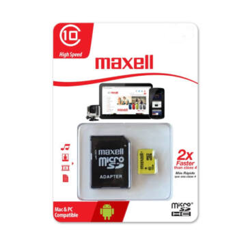 855048.00.CN MAXELL YELLOW MICRO SDHC + ADAPTER 8GB  CL10