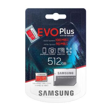 MB-MC512HA/EU Samsung Evo Plus+ 512GB Micro SDXC Memóriakártya + Adapter