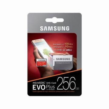 Samsung 256GB Micro SDXC Memóriakártya UHS-I Evo+ Class 10 U3 + Adapter - MB_MC256GA_EU