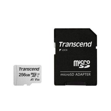 Transcend 256GB Micro SDXC Memóriakártya [95MB/S] USD300S-A TS256GUSD300S-A