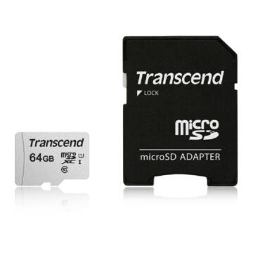 TS64GUSD300S-A Transcend 64GB Micro SDXC Memóriakártya [95MB/S] USD300S-A