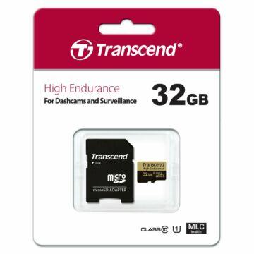 TS32GUSDHC10V Transcend 32GB Endurance Micro SDHC Memóriakártya (95/25 MBps) + Adapter