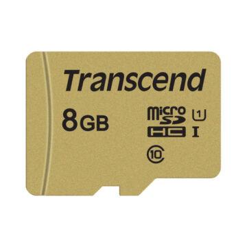 Transcend 8GB Micro SDHC Memóriakártya [95MB/S] USD500S