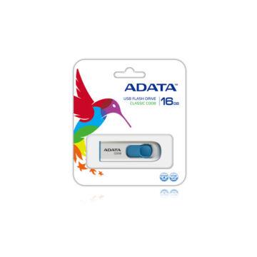 Adata C008 Classic 16GB Pendrive USB 2.0 - Fehér-Kék (AC008-16G-RWE) - AC008_16G_RWE
