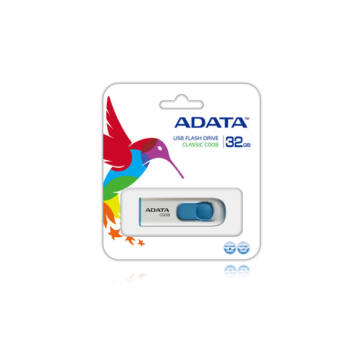 Adata C008 Classic 32GB Pendrive USB 2.0 - Fehér-Kék (AC008-32G-RWE) - AC008_32G_RWE