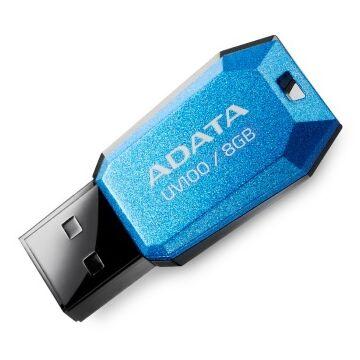 Adata UV100 Slim 8GB Pendrive USB 2.0 - Kék (AUV100-8G-RBL) - AUV100_8G_RBL