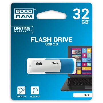 Goodram UCO2 32GB Pendrive [USB 2.0] Kék / Fehér UCO2-0320MXR11