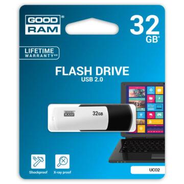Goodram UCO2 32GB Pendrive [USB 2.0] Fekete / Fehér UCO2-0320KWR11