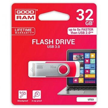 UTS3-0320R0R11 Goodram 32GB UTS3 USB 3.0 pendrive - piros