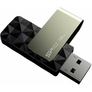 SP128GBUF3B30VSK Silicon Power 128GB Blaze Pendrive B30 [USB 3.0] Fekete