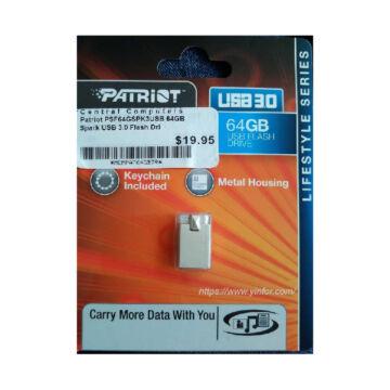Patriot flashdrive SPARK 64GB USB 3.0 PSF64GSPK3USB - PSF64GSPK3USB