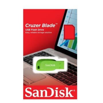 SANDISK CRUZER BLADE PENDRIVE 64GB USB 2.0 Zöld