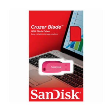 SANDISK CRUZER BLADE PENDRIVE 64GB USB 2.0 Pink