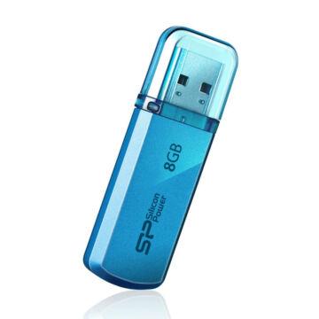 SP008GBUF2101V1B Silicon Power 8GB Helios Pendrive 101 [USB 2.0] Kék