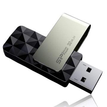 SP032GBUF3B30V1K Silicon Power 32GB Blaze Pendrive B30 [USB 3.0] Fekete