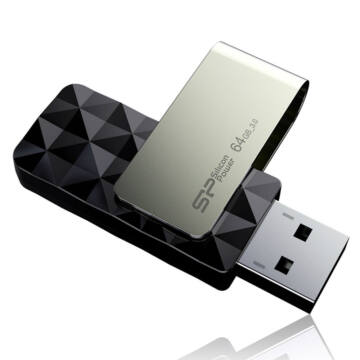 SP064GBUF3B30V1K Silicon Power 64GB Blaze Pendrive B30 [USB 3.0] Fekete