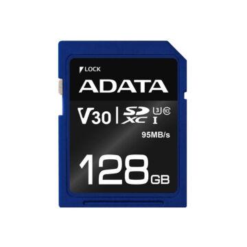 ADATA Premier Pro 128GB SDXC Memóriakártya UHS-I U3 (V30S) [95/60MBps]