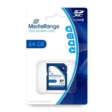 MR965 MediaRange 64GB SDHC memóriakártya Cl10