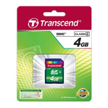 TS8GSDHC4 TRANSCEND SDHC 8GB CL4 (10 MB/s olvasási sebesség)