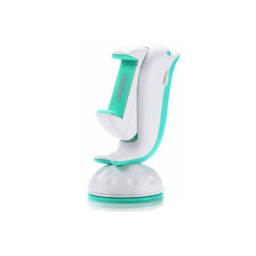 RM-C20-white+blue REMAX RM-C20 Dolphin telefontartó  szilikonos tapadóval, Műszerfalra, Fehér-kék